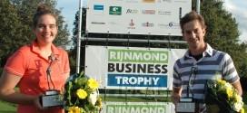 Lotte Hoekstra schittert naast Roelof Rijnhout als kampioen Rijnmond Open Golftoernooi