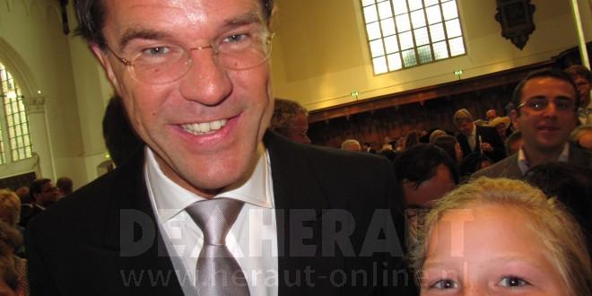 Groep 8 CBS Boterdorp ontmoet premier Rutte