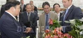 Viceminister-president Hoang Trung Hai van Vietnam bezoekt Anthura